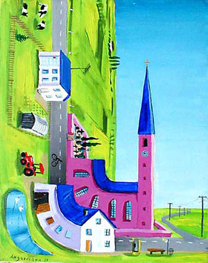 "Peter Angermann - ""90°village"" Peter Angermann 1984"