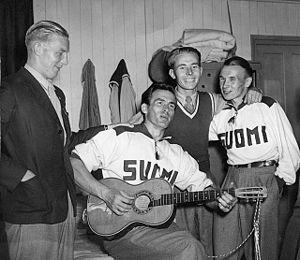 Tapio Rautavaara - Kuuno Honkonen, Tapio Rautavaara, Pentti Siltaloppi and Salomon Könönen at the 1948 Olympics