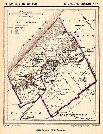 Loosduinen - Map of the municipality of Loosduinen (1869)