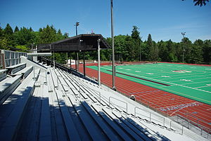 Northwest Conference - Image: L&C Griswold Stadium bleachers
