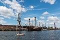 Lübeck, Segelschiff -Lisa von Lübeck- und Kräne -- 2017 -- 0523.jpg