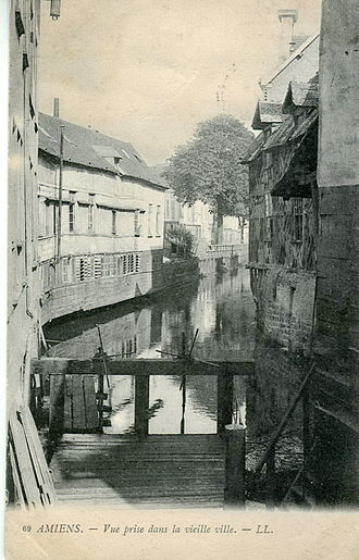 Amiens - The Somme in the old town at the beginning of the 20th century