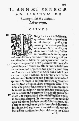 De Tranquillitate Animi - From the 1594 edition, published by Jean Le Preux