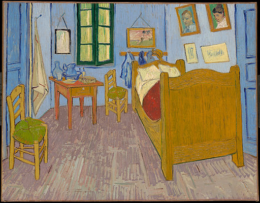 La Chambre à Arles, by Vincent van Gogh, from C2RMF
