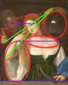 La Femme au miroir, composition du tableau.png