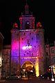 La Tour de la Grosse Horloge illuminée, Noël 2009 (8).JPG