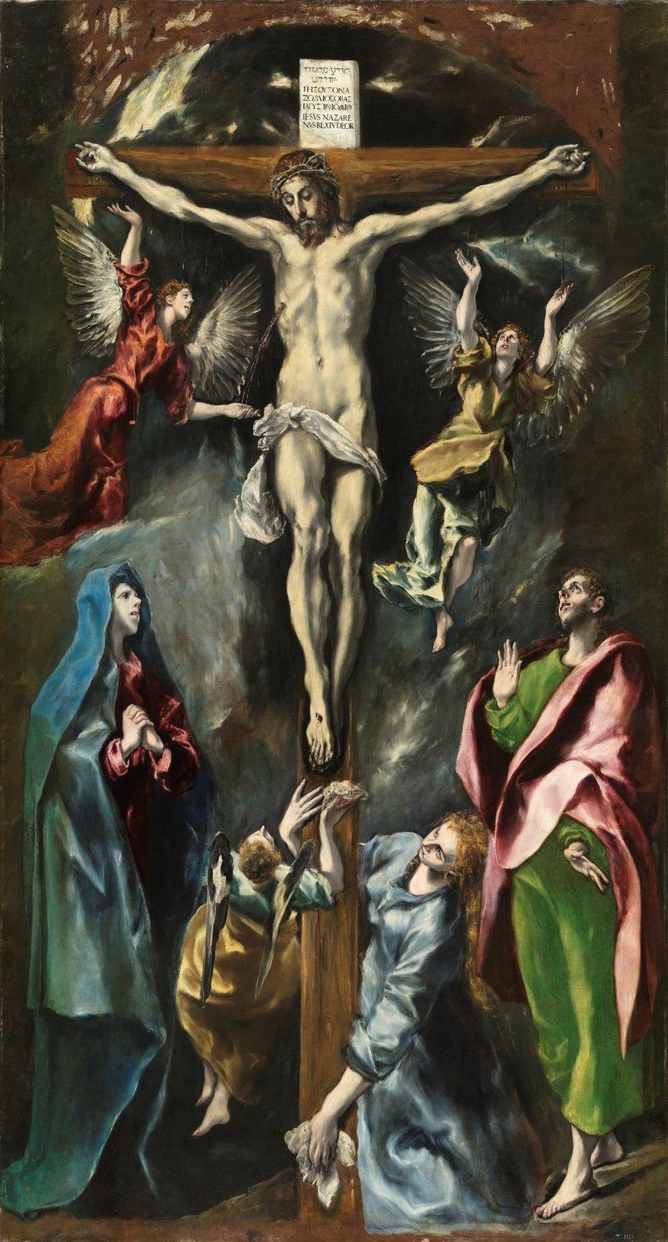 La crucifixión (El Greco, 1597)