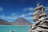 Laguna Verde ubicada al sur de Bolivia en el Altiplano