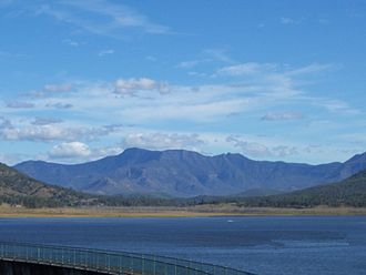 Main Range National Park - The forested slopes of Main Range to the south of Lake Moogerah.