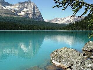 Lake OHara alpine lake in British Columbia, Canada