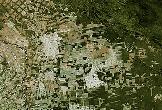 Santa Cruz Department (Bolivia) - Image: Land Sat Chiquitos, Santa Cruz, Bolivia 2000