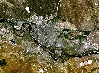 Semey - NASA satellite photo of Semey.