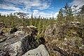 Landscape over Pirunkuru at Kivitunturi in Savukoski, Lapland, Finland, 2021 June.jpg