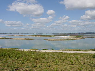 Langstone Harbour - The artificial lagoon built on the remains of the old oyster beds