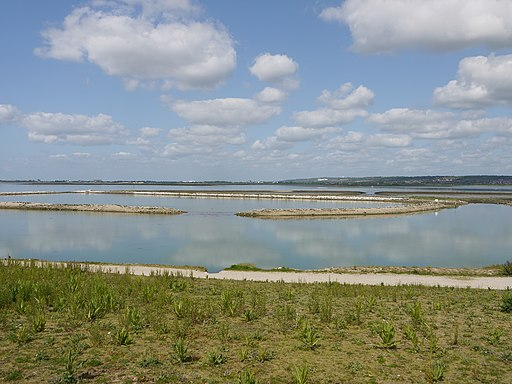 Langstone salt water lagoon