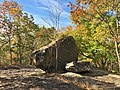 Large boulder on Kilkenny Rock in West Hartford Reservoir, Connecticut (October 2020) 01.jpg