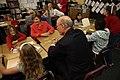 Laura Bush and Pat Roberts at Rolling Ridge Elementary School in Olathe, Kansas.jpg