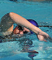 Laura Robins swims the 200-yard segment of the mini-triathlon at Keesler Air Force Base in Biloxi, Miss, Sept 110914-F-BD983-009.jpg