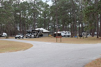 Laura S. Walker State Park - Image: Laura S. Walker State Park tent and trailer campsites