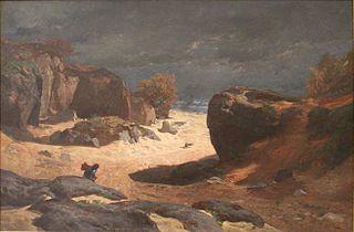 Chemin des Sables in Fontainebleau, Storm Effect