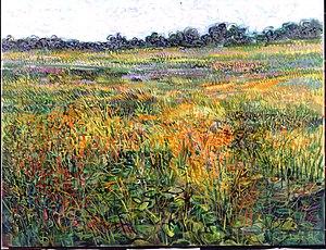 Gabor Peterdi - Lavender Meadow by Gabor Peterdi, 1986