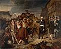 Le maire Kervégan arrêtant une émeute de paysans à l'octroi de Nantes en 1790, par Henri Villaine.jpg