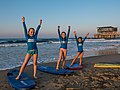 Learning to surf with Ocean Adventures, Durban beach front. KwaZulu Natal, South Africa (20504507242).jpg