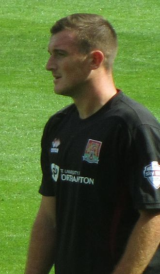Lee Collins (footballer, born 1988) - Collins playing for Northampton Town in 2013