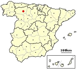 Leon, Spain location