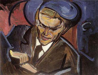 Leon Chwistek - Image: Leon Chwistek Portret Tytusa Czyżewskiego 1920