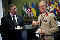 Leon E. Panetta and Gen. Sir David Richards at NATO Summit in Chicago May 20, 2012.jpg