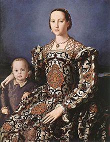 Leonor de Toledo retratada por Bronzino.
