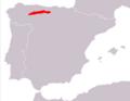 Lepus castroviejoi range Map.png