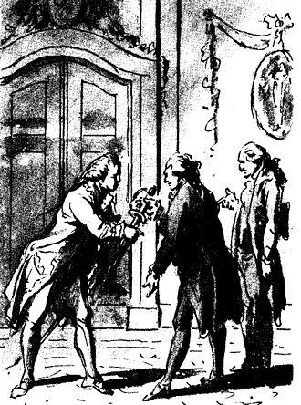 Pierre André de Suffren - The envoys Mattheus Lestevenon and Gerard Brantsen presenting vice-admiral Pierre André Bailly de Suffren de Saint Tropez with a golden sword in 1784