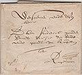 Letter to the registrar of Rupelmonde 1660-07-24 recto.jpg