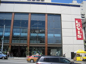 The Levi's flagship store at Union Square, San...