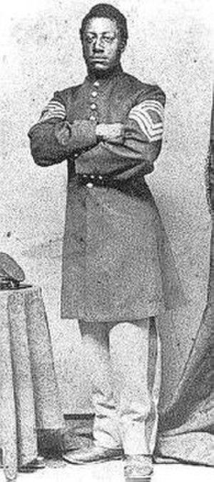 Lewis Henry Douglass - Lewis Henry Douglass in his Union army uniform