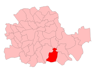 Lewisham West (UK Parliament constituency) - Lewisham West in London 1950-74