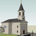 Libocký kostel - Google SketchUp.png