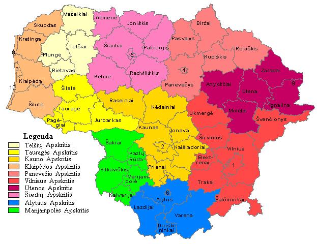 Lietuvos savivaldybes