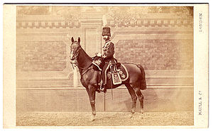 14th King's Hussars -  Carte-de-Visite of a Lieutenant in the 14th (King's) Hussars. Maull & Co. Studios, London, 1867