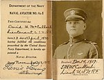 Lieutenant David H. McCulloch US Naval Reserve Forces Naval Aviator ID.jpg