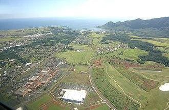 Lihue, Hawaii - Aerial view of Lihue