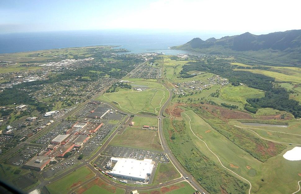 Aerial view of Lihue