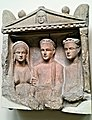 Limestone Grave-Relief Decorated in High-Relief with 3 Figures (Cyprus, about 1st Century AD) - British Museum.jpg