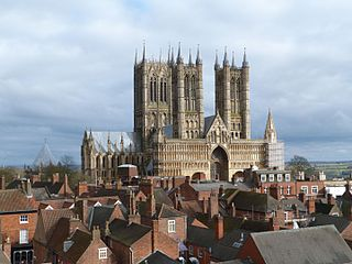 Lincoln Cathedral Church in Lincolnshire, England