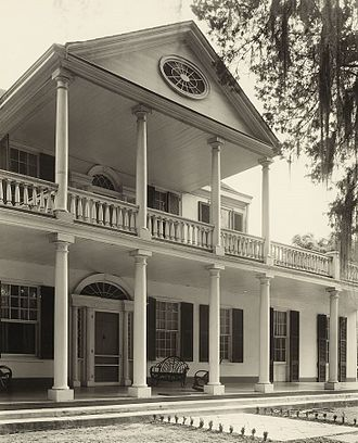 Linden (Natchez, Mississippi) - Linden, by Frances Benjamin Johnston, 1938