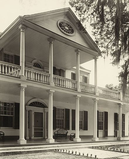 Linden, by Frances Benjamin Johnston, 1938. Builder is not known but Thomas B. Reed is known as the first occupant. In 1840, Linden was purchased by Mrs. Janr Gustine Connor, great grandmother of present owner Linden, Natchez, Adams County, Mississippi.jpg