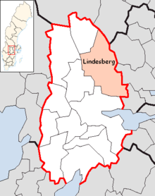 Lindesberg Municipality in Örebro County.png