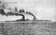SMS König Albert auf einer Feldpostkarte (Quelle: Wikimedia)